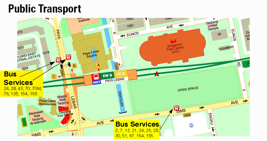 Direction to Brother Singapore office by bus